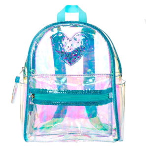 Clear Iridescent Mint Mini Backpack