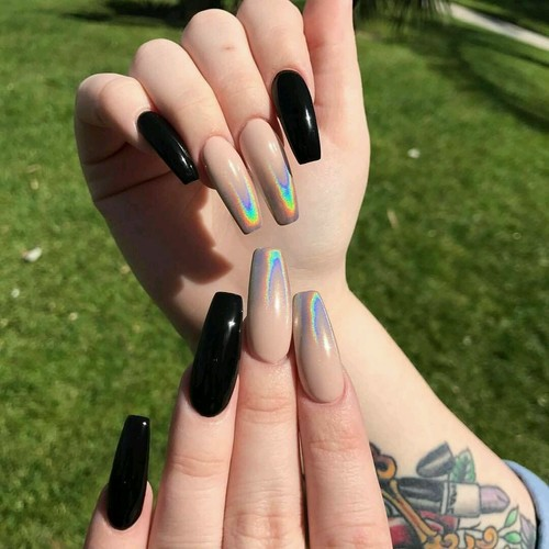 Holographic Nail Polish Design