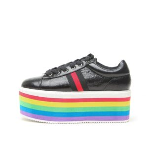 Rainbow Platform Sneakers - Black