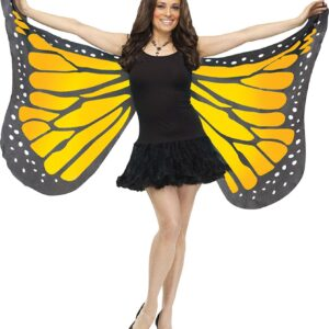 Adult Soft Butterfly Wings Adult Costume Accessory - ORANGE