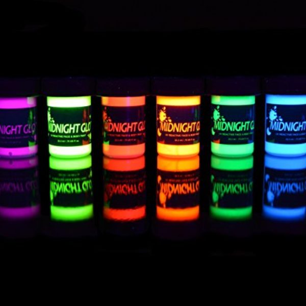 Backlight Reactive Neon Fluorescent Face and Body Paint