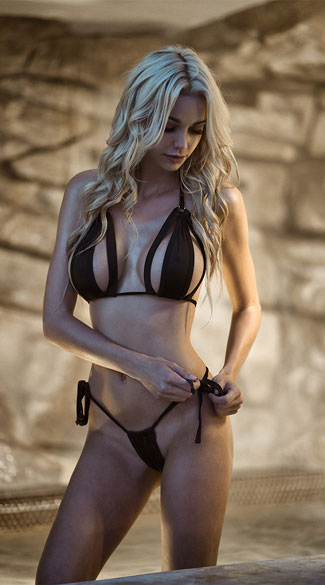 Black Cut-Out Bikini