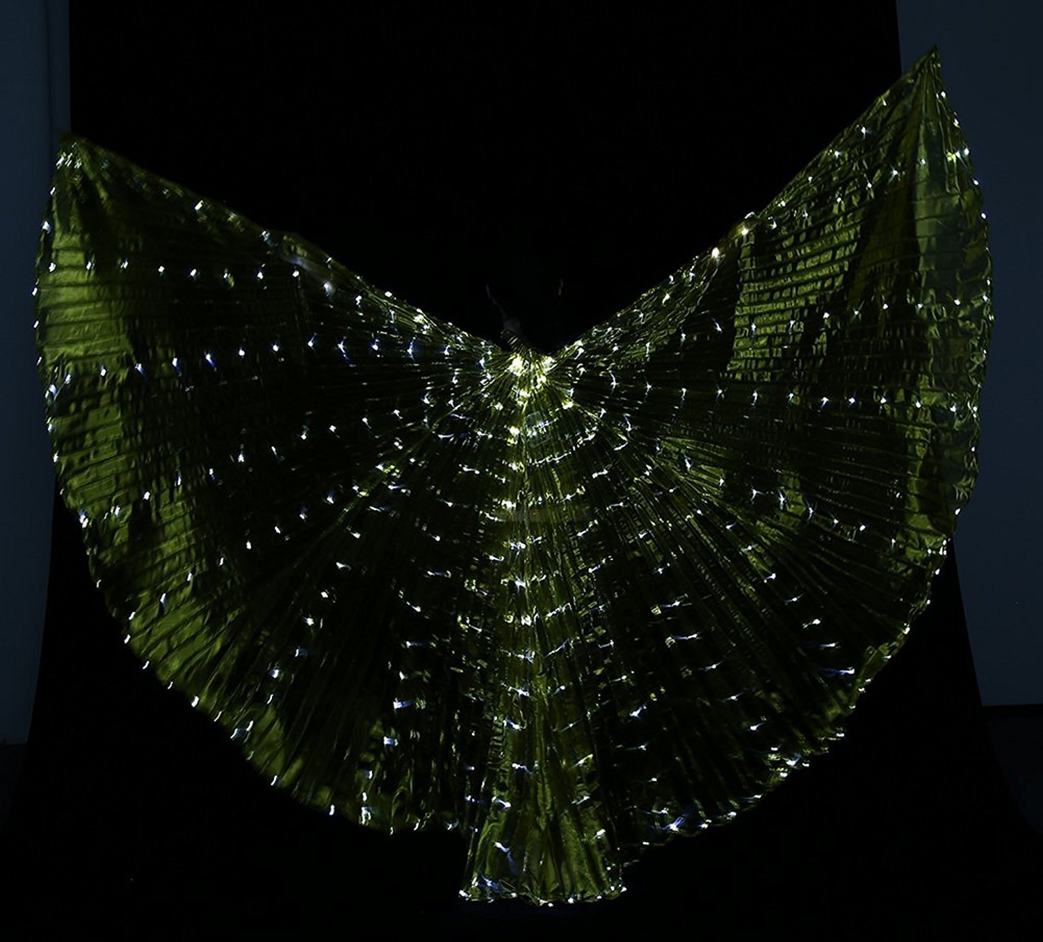 Dance Fairy Belly Dance LED Isis Wings with Flexible Sticks