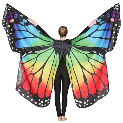 Danzcue Adult Soft Rainbow Butterfly Wings Dance Costume Accessory