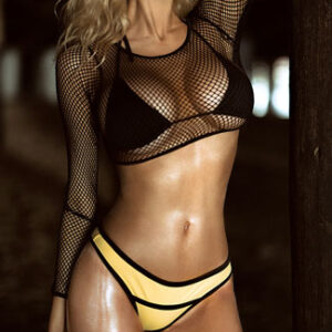 Fearless Fishnet Swim Set
