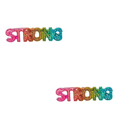 Glittery Rainbow Strong Stud Earrings