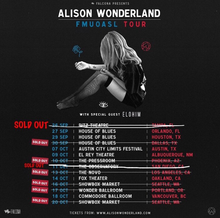 Alison Wonderland Tour Dates