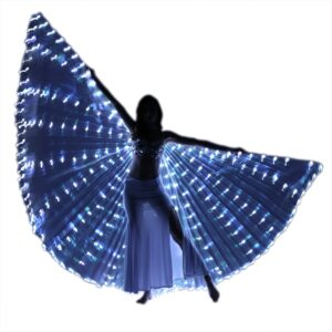 LED Isis Wings with Flexible Sticks - WHITE