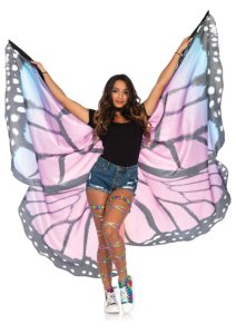 Leg Avenue Women's Festival Monarch Butterfly Cape - PURPLE