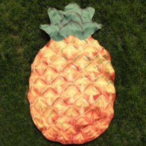 Pineapple Shape Polyster Beach Throw - Orange