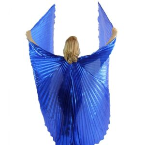 Royal Blue Dance Wings With Sticks