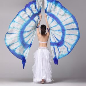 Silk Veils Isis Wings - BLUE & WHITE