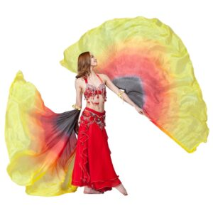 Silk Veils Isis Wings - RED & GOLD