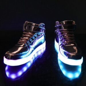 Chrome Invader Light Up Sneakers