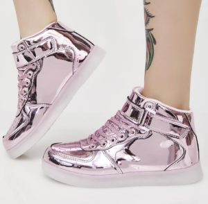 Chrome Invader Light Up Sneakers1