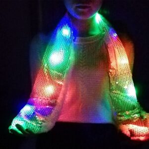 Colorful LED Flashing Scarf