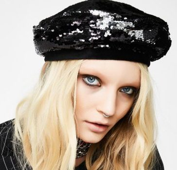 Endless Noir Sequin Beret