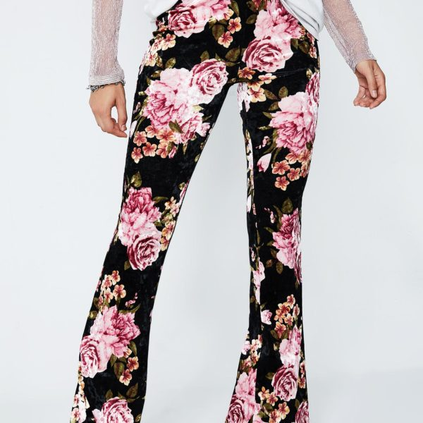 Flowerchild Velvet Bell Bottoms