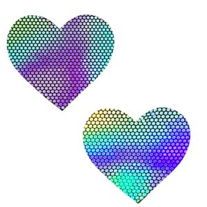 Hologram Heart Rave Pasties