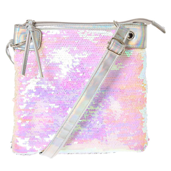 Iridescent Reversible Star Sequin Crossbody