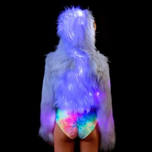 J Valentine Candy Flashing Lights Cropped Jacket
