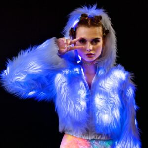 J Valentine Glacier Flashing Lights Cropped Jacket