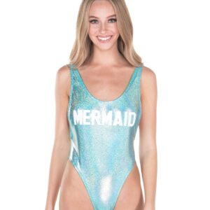 Malibu Metallic Pastel High Cut Bodysuit Swimsuits