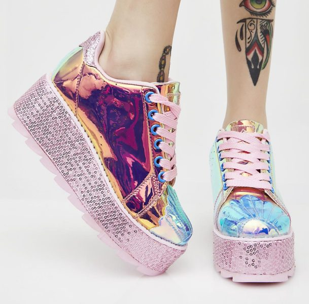 Mermaid Lala Platform Sneakers