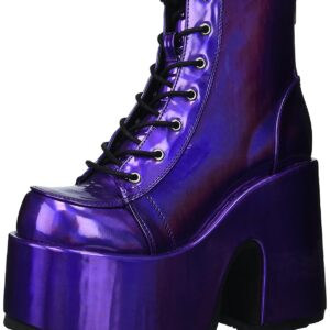 Purple Hologram Ankle Boot