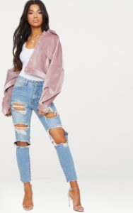 Light Wash Extreme Distressed Boyfriend Jean