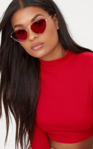 Red Cat Eye Lense Retro Sunglasses