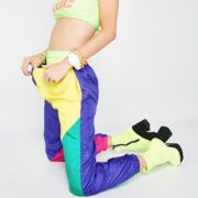 Vintage 80s Neon Colorblock Pants