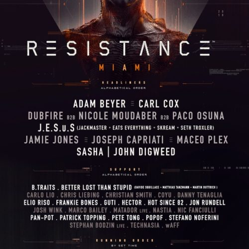 Ultra Music Festival Drops Resistance Miami Lineup