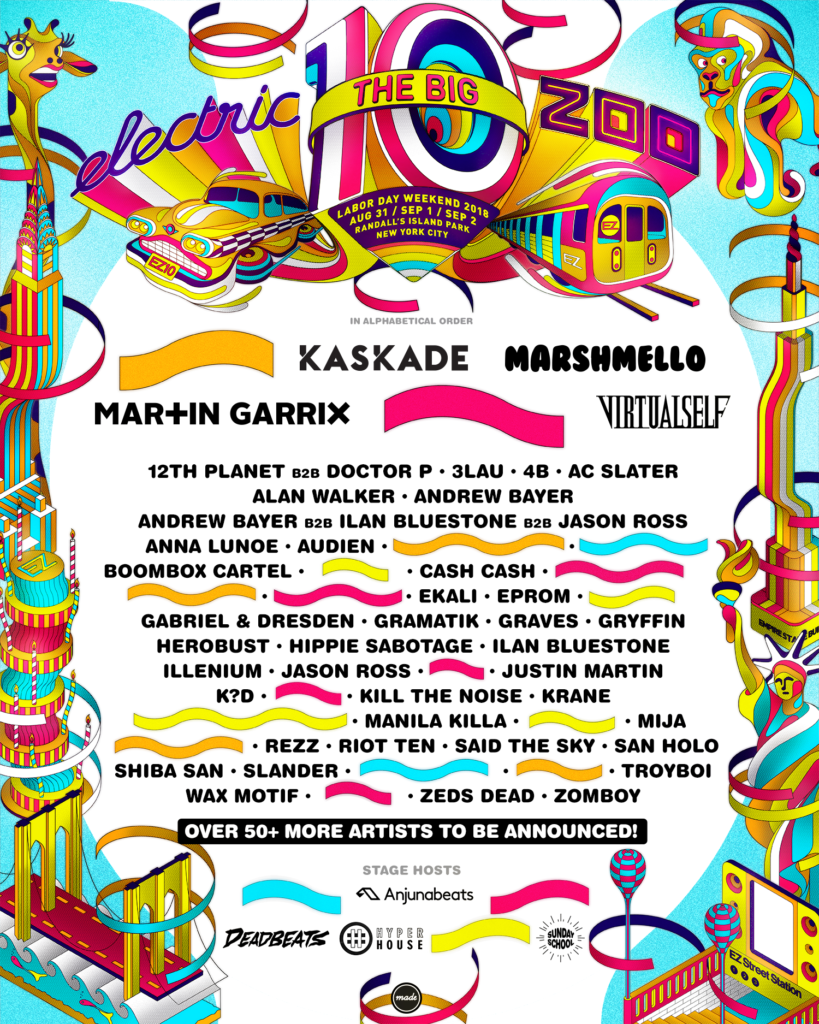 Electric Zoo 2018 Lineup