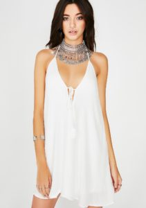 Festival Mini Halter Dress
