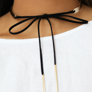 Metal & Leather Choker
