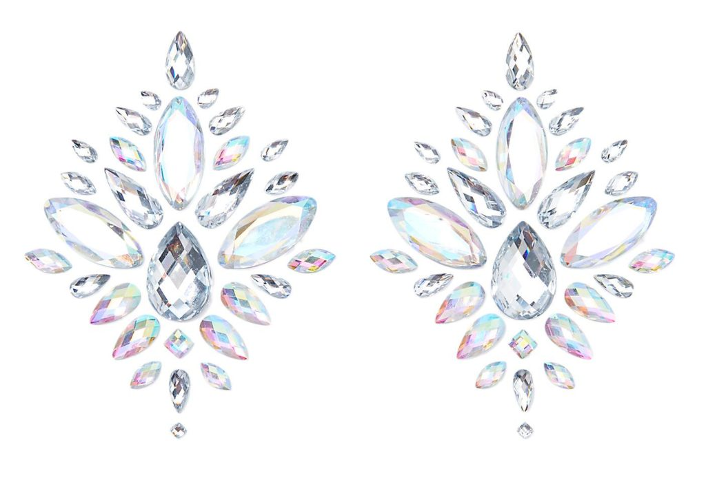 Silver Diamond Jewel Pasties