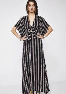Stripe Tie Maxi Dress