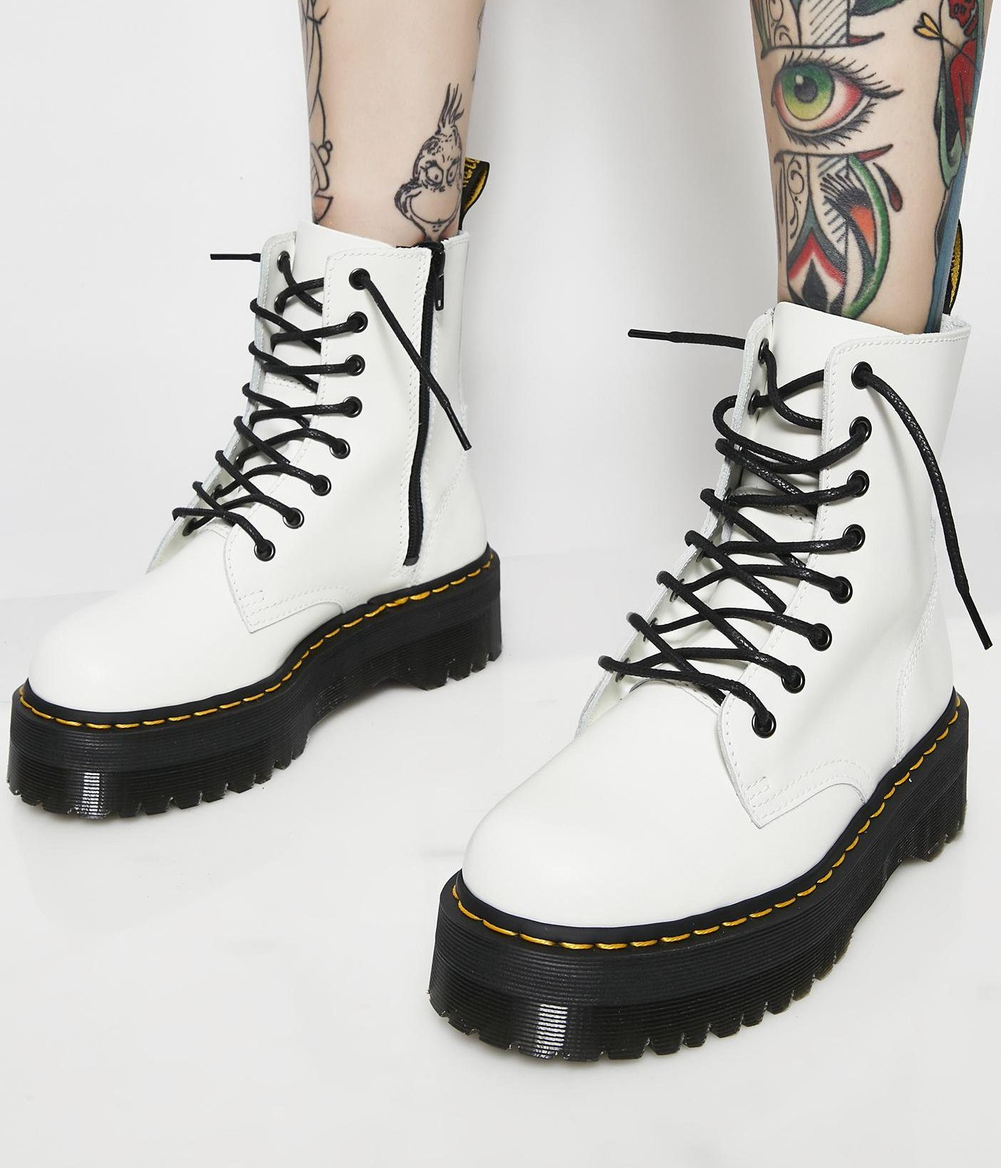 0b9252061b7 Dr. Martens White Boots - Women of Edm