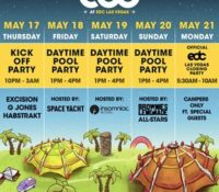 Camp EDC Pool Party Lineups and Amenities for Electric Daisy Carnival Las Vegas 2018
