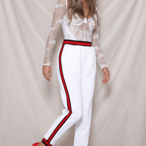 Runway White Trackpant