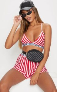 Red Stripe Bralet