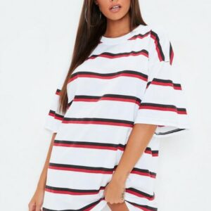 double stripe t shirt dress