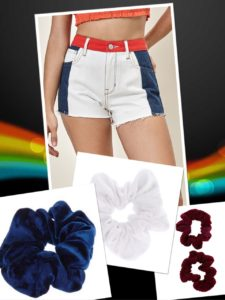 High Rise Denim Shorts & scrunchiis
