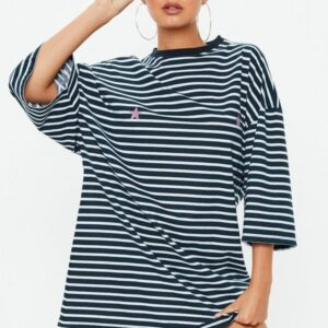 t-shirt stripe dress