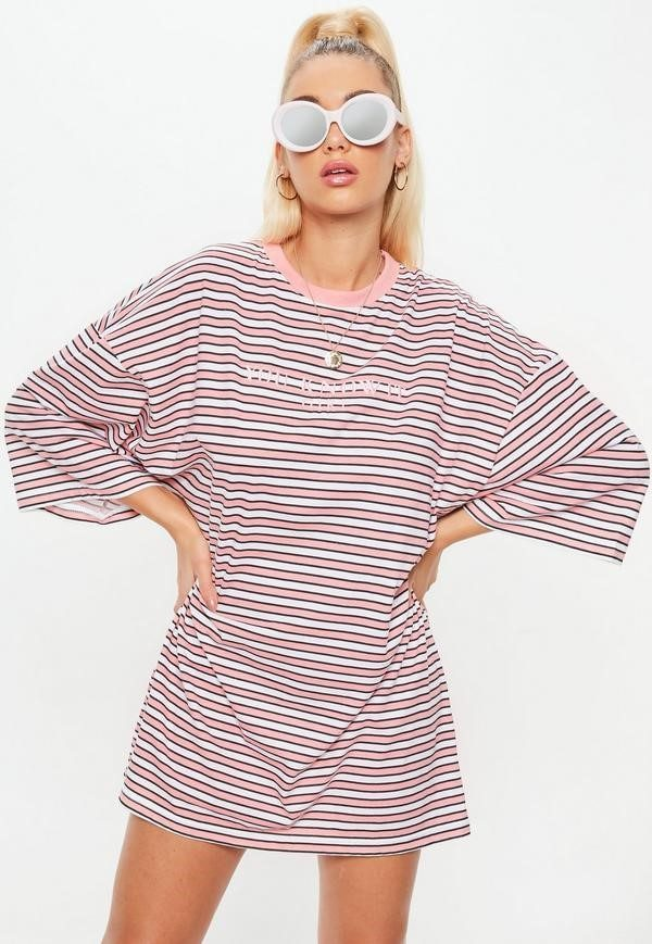 you know it pink t-shirt dress