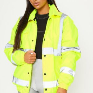 Neon Yellow High Vis Coat