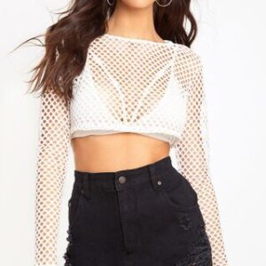 Super Shred Denim Mini Skirt