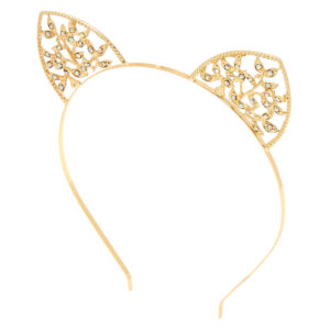 Gold Ivy Cat Ears Headband