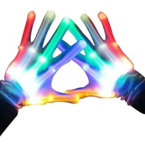 LED Light Colorful Rainbow Fingertip Gloves